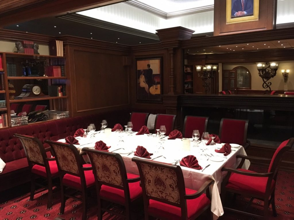 private room the diplomat steakhouse food